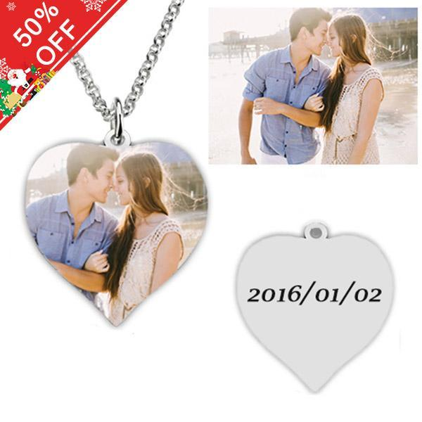 Titanium Steel - Photo Necklace Heart-Shaped