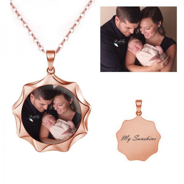Personalized Photo Necklace Of Sunshine