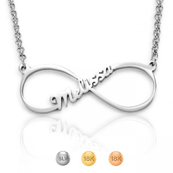Personalised Single Infinity Name Necklace