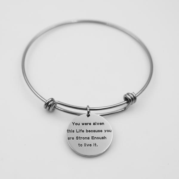 Photo Bracelet In Sterling Silver - Round Shaped