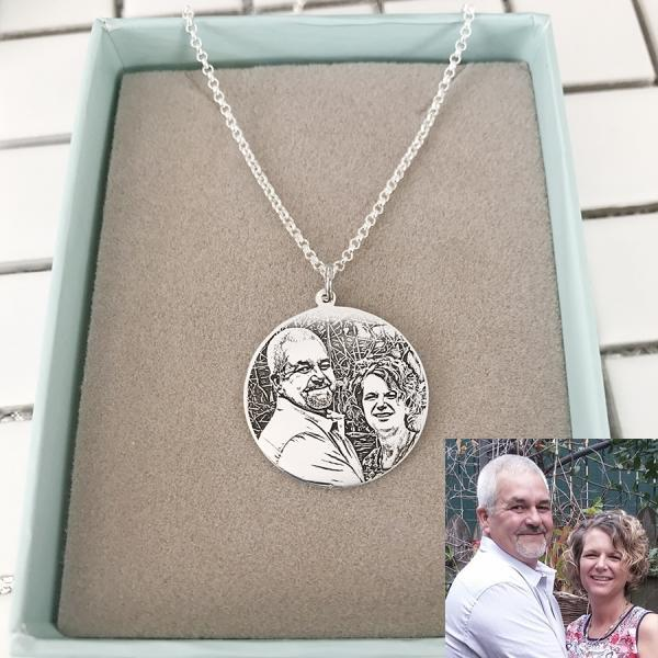 Customize Photo Necklace Sterling Silver