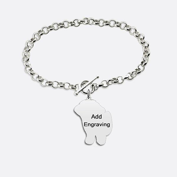 Personalized Pet's Photo Bracelet Sterling Silver