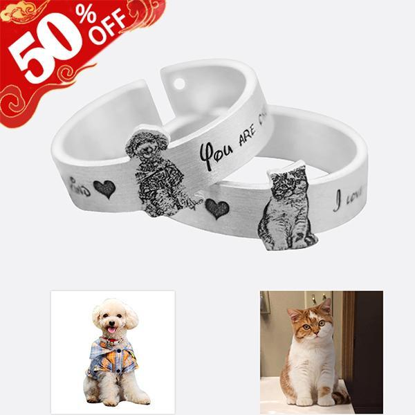 Personalized Pet's Photo Ring