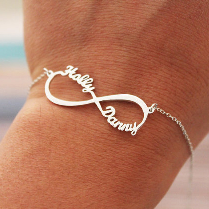 Infinity up to 4 Names Bracelet